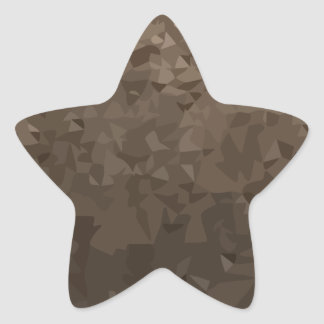 Antique Brass Camo Abstract Low Polygon Background Star Sticker