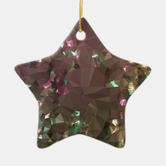 Antique Bronze Abstract Low Polygon Background Ceramic Star Decoration
