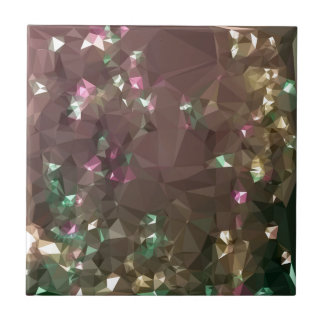 Antique Bronze Abstract Low Polygon Background Ceramic Tile