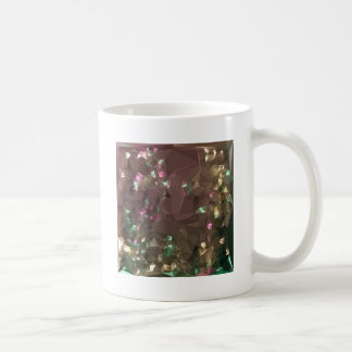 Antique Bronze Abstract Low Polygon Background Coffee Mug