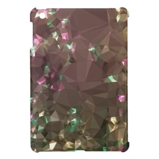 Antique Bronze Abstract Low Polygon Background iPad Mini Cover