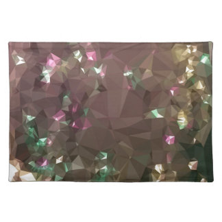 Antique Bronze Abstract Low Polygon Background Placemat