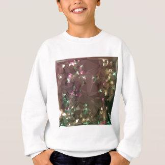 Antique Bronze Abstract Low Polygon Background Sweatshirt