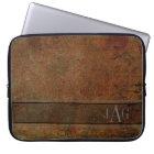 Antique Brown Book Design Laptop Sleeve