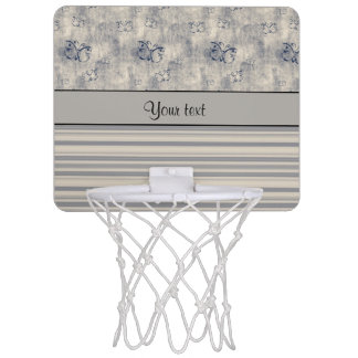 Antique Butterflies & Stripes Mini Basketball Hoop