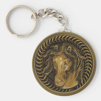 Antique Button Collectors Basic Round Button Key Ring