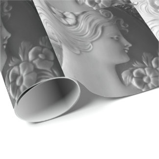 Antique Cameo Wrapping Paper