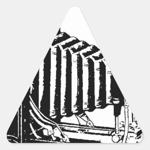 Antique Camera Old World Triangle Sticker
