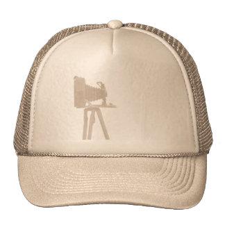 Antique Camera on Sepia Toned Background Cap