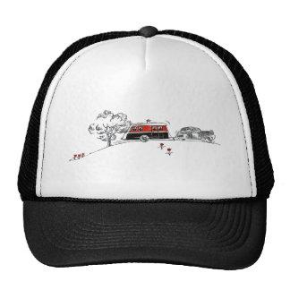 Antique Camper and Car Trucker Hat