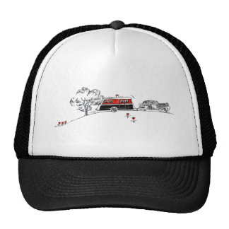 Antique Camper and Car Trucker Hat