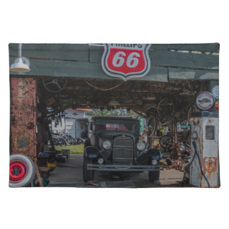 Antique Car and Pump Placemat