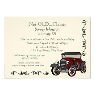 Antique Car Birthday Invitation