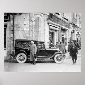 Antique Car in Jerusalem, 1926 Poster