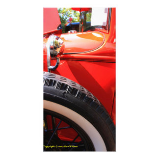 Antique car invitation customized photo card