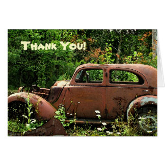 Antique Car Thank You Card