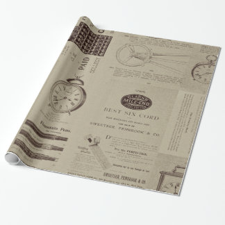 Antique Catalog Pages Wrapping Paper