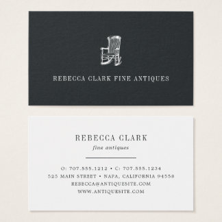 Antique Chair Business Card | Brushed Black
