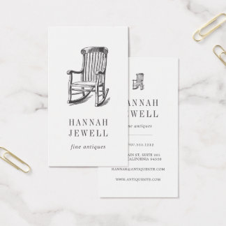 Antique Chair | Vintage Furniture Business Card