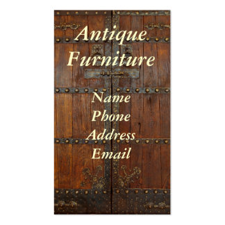 Antique Chinese Wardrobe with Brass Fittings Business Card Template
