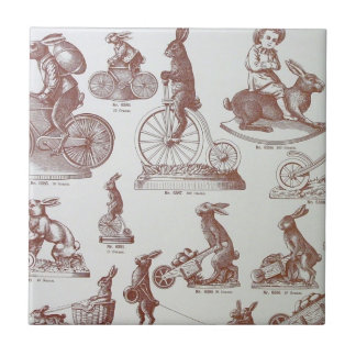 Antique Chocolate Mold Catalog Easter Bunnies Page Ceramic Tile