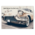 Antique Classic Car Fan Birthday Card