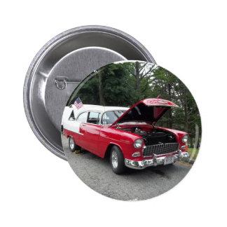 antique classic car show pic raw 012 6 cm round badge