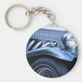 Antique Classic Vintage Car Chrome and Lights Key Ring