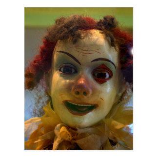 antique clown postcard