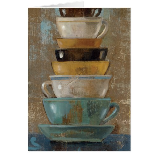 Antique Coffee Cups Card