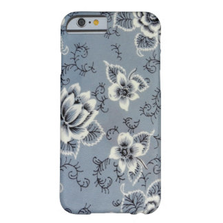Antique Colonial Blue Flower Pattern Barely There iPhone 6 Case