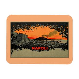Antique color litho Hotel Bristol Naples Napoli Magnet