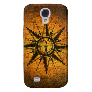 Antique Compass Rose Galaxy S4 Covers