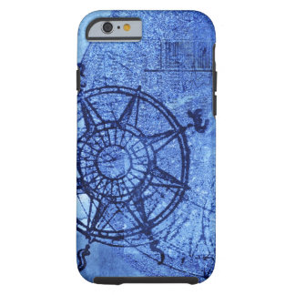 Antique compass rose tough iPhone 6 case