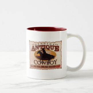 Antique cowboy Two-Tone coffee mug
