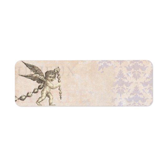Antique Cupid with a Garland Vintage Return Address Label