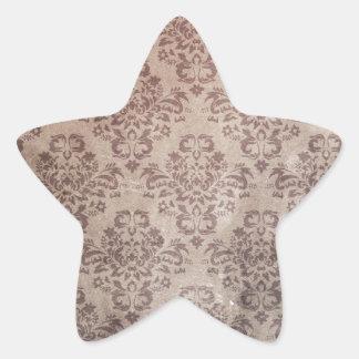 Antique damask wallpaper pattern star sticker