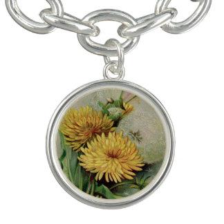 Antique Dandelion Charm Bracelet