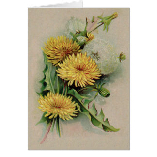 Antique Dandelion Greeting Card