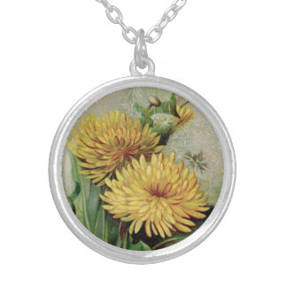 Antique Dandelion Necklace