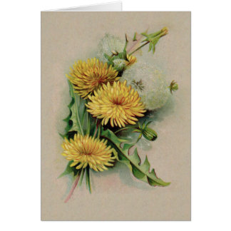Antique Dandelion Note Card