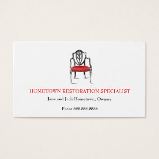 Antique Dealer Restorer Upholsterer  Business Card