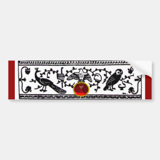 ANTIQUE DECOR, RUBY BUMPER STICKER