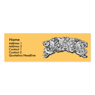 Antique Decorative Flourishes Pack Of Skinny Business Cards