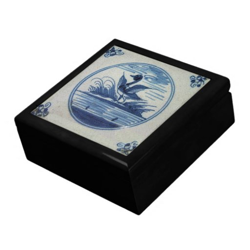 Antique Delft Blue Tile - Duck in the Water Gift Boxes