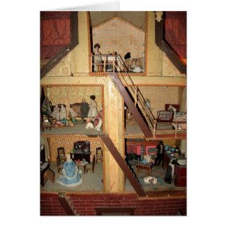 Antique Dollhouse Card - Blank