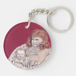 Antique dolls keychain acrylic key chains