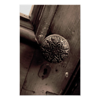Antique Door Knob Poster