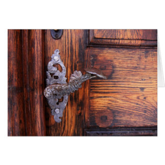 Antique Doorhandle Old Doorway Blank Notecards Card