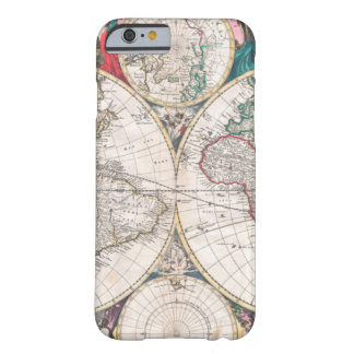Antique Double-Hemisphere World Map Barely There iPhone 6 Case